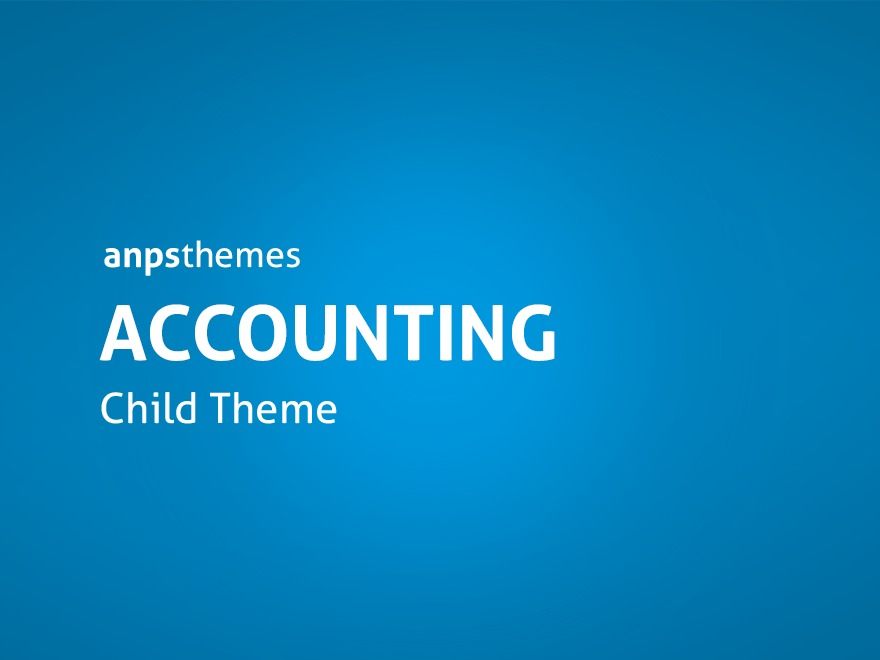 Best WordPress template Accounting Child Theme