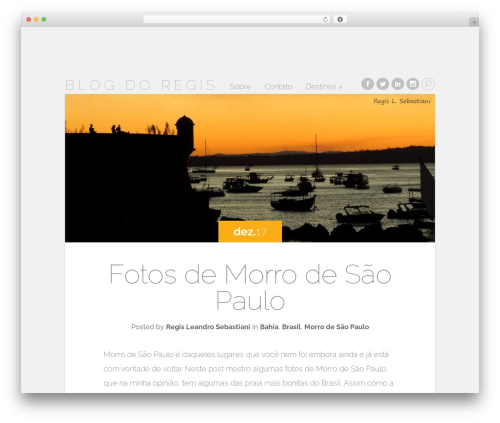 Free WordPress WordPress Social Share, Social Login and Social Comments Plugin – Super Socializer plugin - regisls.net/blog