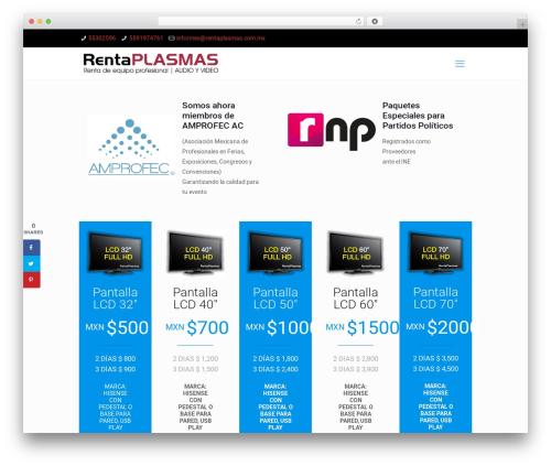 Betheme WordPress theme - rentaplasmas.com.mx