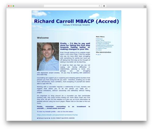 BlueSky best WordPress template - richardcarroll.co.uk
