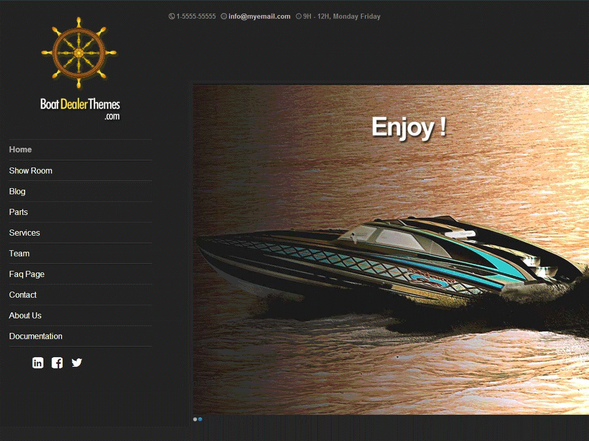 boatdealer template WordPress free