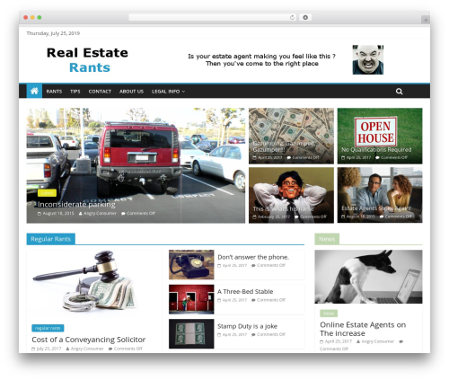 ColorMag best WordPress template - realestaterants.com