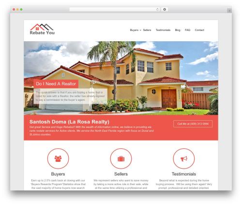 Esteem real estate template WordPress - rebateyoujax.com