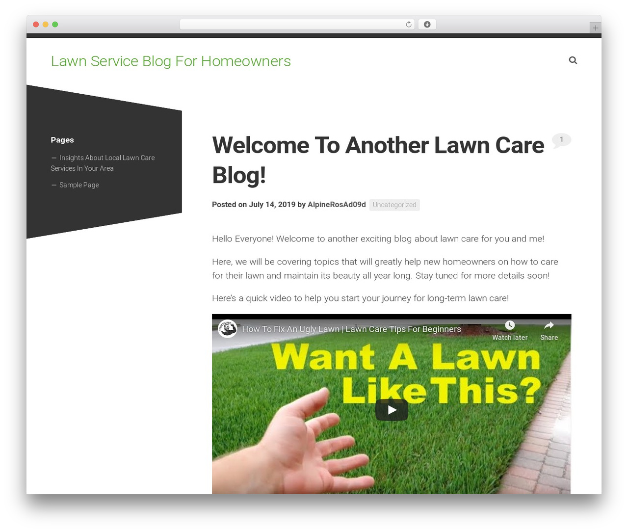 Minimer WordPress template - alpinegreenhouse.com