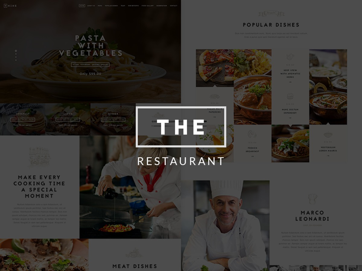NRGRestaurant best restaurant WordPress theme