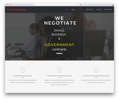 Palas WordPress template - red7consulting.com