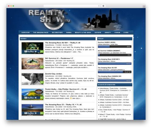 Project AR2 WordPress theme - reality-show.eu