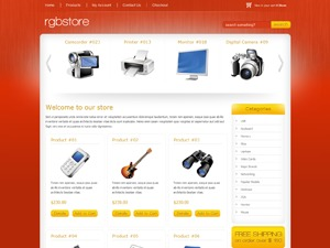 RGB Store Red WordPress store theme