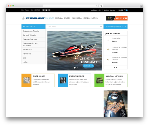 Sanzo WordPress theme - rcmodelboat.com