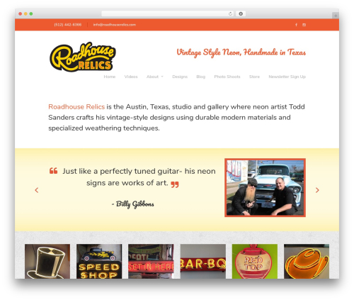 Theme WordPress Lion - WordPress Theme - roadhouserelics.com