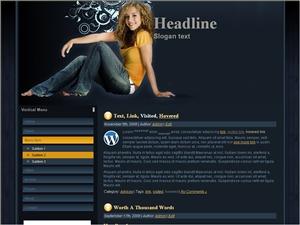Womans Jeans Wptheme WordPress blog theme