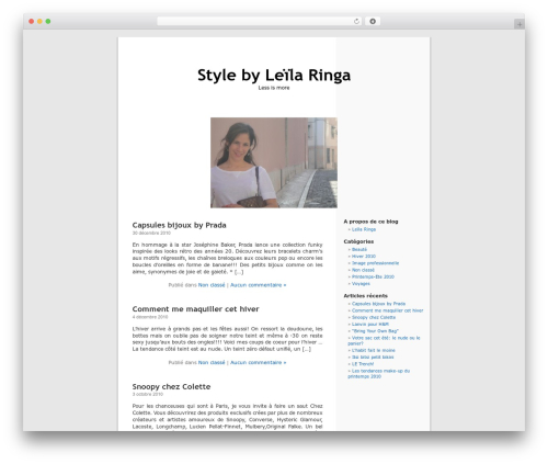 WordPress Default Fr WordPress theme - ringa.ca