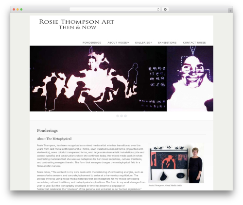 WordPress template Dandelion - rosiethompsonart.com