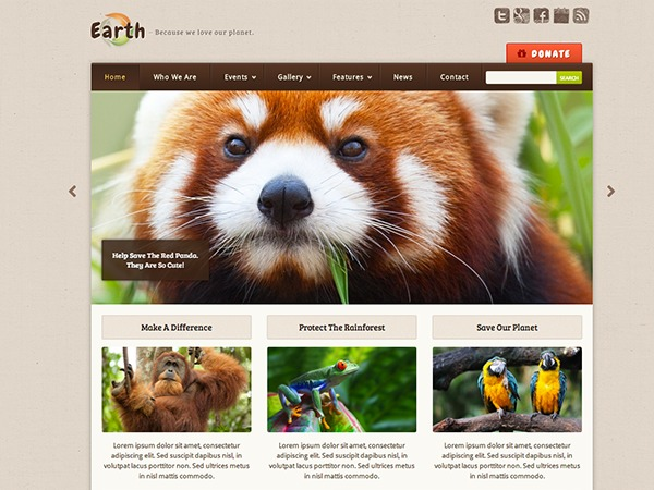 WordPress theme Earth Child