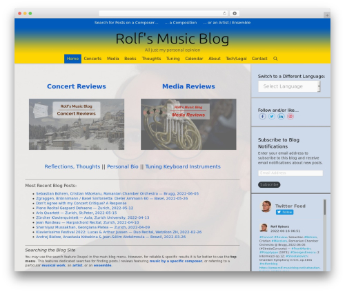 WordPress theme Exhibit - rolf-musicblog.net