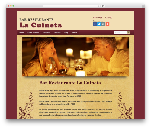 WordPress theme Twenty Eleven - restaurantelacuineta.es
