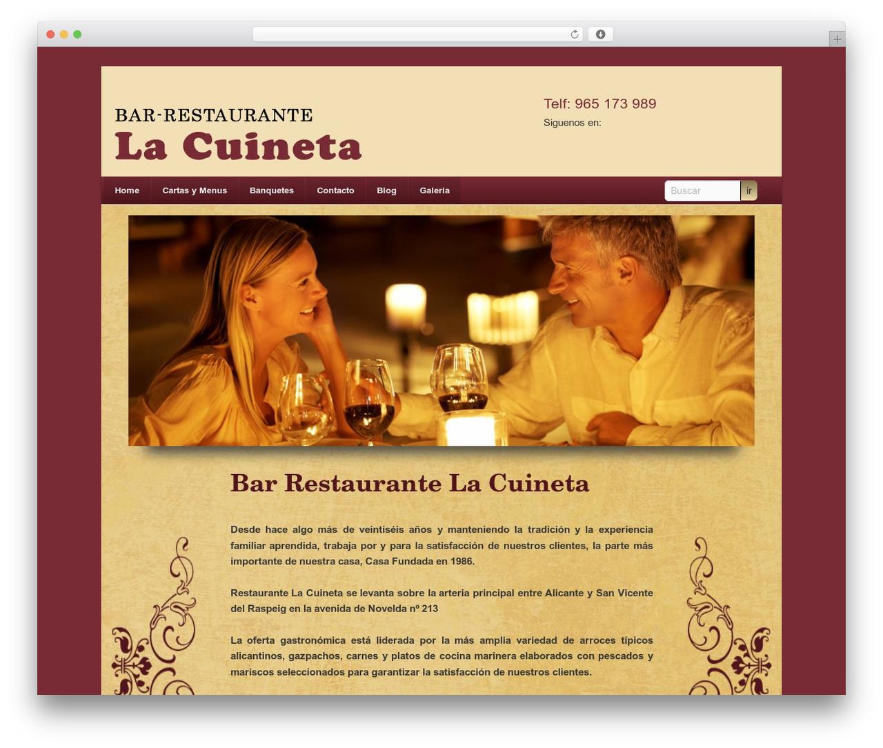 WordPress theme Twenty Eleven - restaurantelacuineta.es