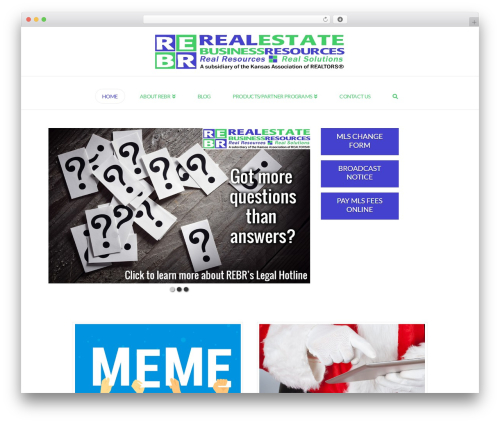 X real estate template WordPress - rebr.com