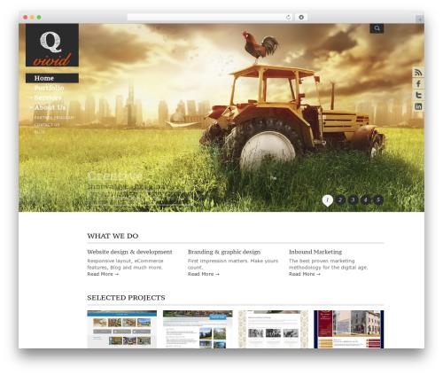 Adept style top WordPress theme - qvivid.com