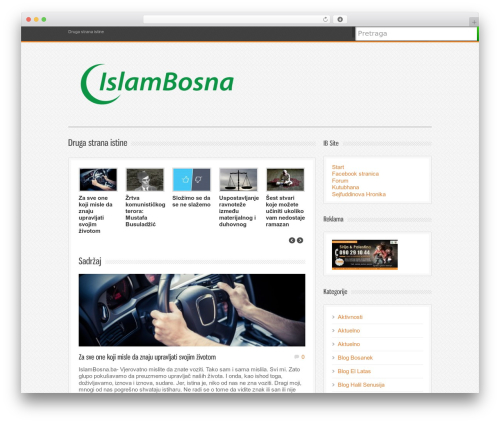 Bangkok Press WordPress theme design - islambosna.ba