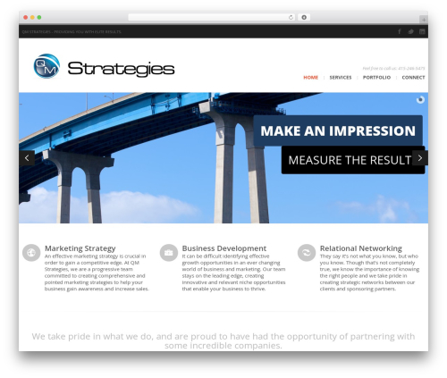 Best WordPress template CleanSpace Business WP Theme - qmstrategies.com
