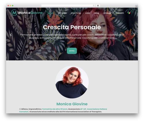 Bridge WordPress page template - monicagiovine.com