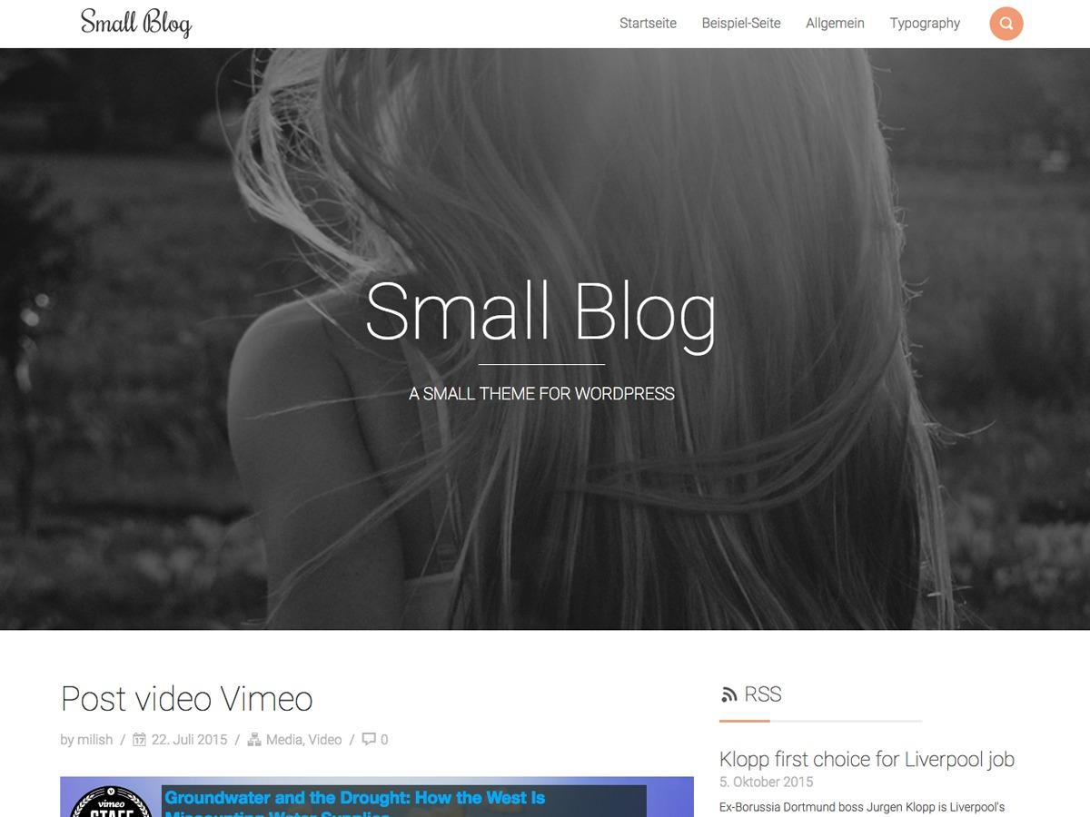 Custom SmallBlog WordPress blog template