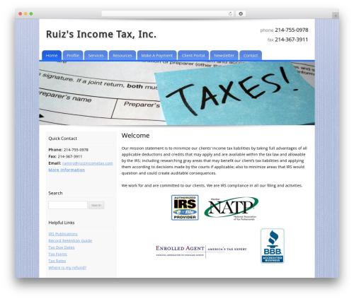 Customized WordPress theme - ruizincometax.com