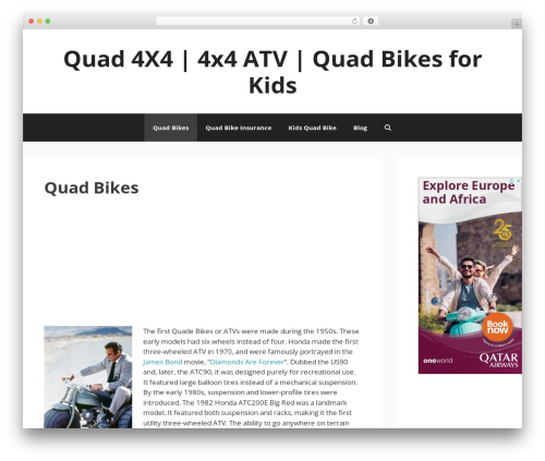 GeneratePress best free WordPress theme - quadbikesuk.co.uk