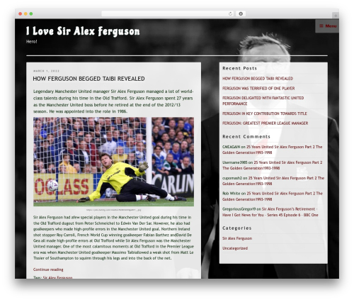 Hey Kami best WordPress theme - ilovesiralexferguson.co.uk