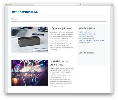 Theme WordPress Prologue - quadraphonic.se