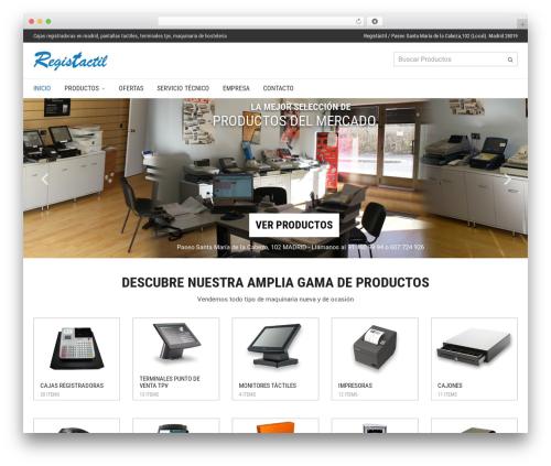 WordPress theme Adrenalin - registactil.es