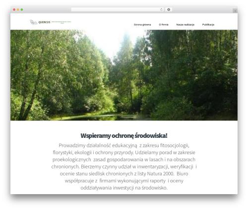 WordPress website template Extent - quercus-torun.pl