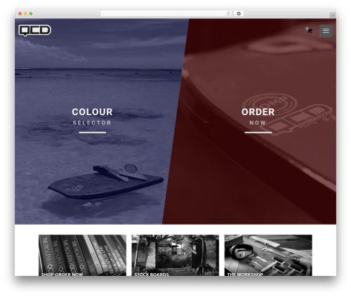 Zancudo WordPress theme design - qcdboards.com
