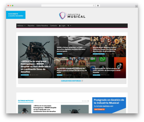 Goliath business WordPress theme - industriamusical.es
