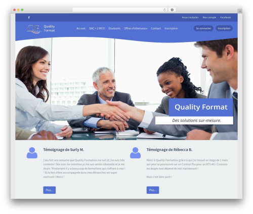 Klein theme WordPress - quality-format.fr