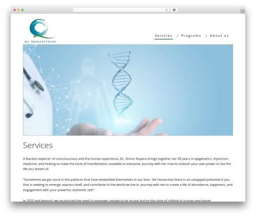 Minus WordPress page template - qimountain.com