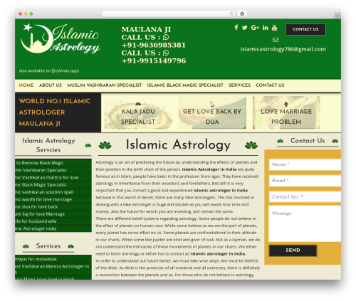 Namaste Lite WordPress theme free download - islamicastrology.com