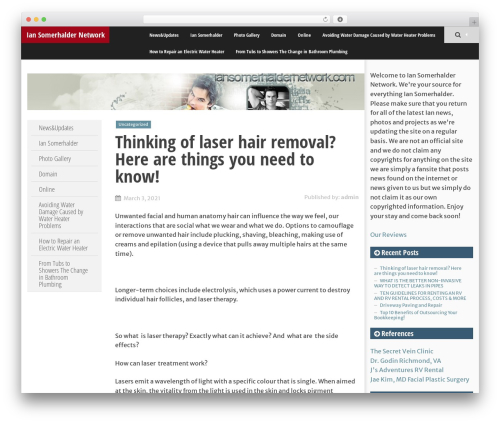 SmartAdapt WordPress template free - iansomerhaldernetwork.com