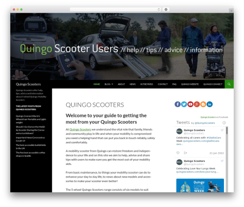 Twenty Fourteen free website theme - quingoscooterusers.co.uk