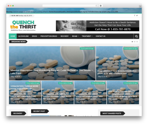 WordPress theme Top News - quenchthethirst.org