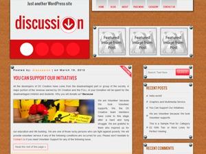 DISCUSSION WordPress blog theme