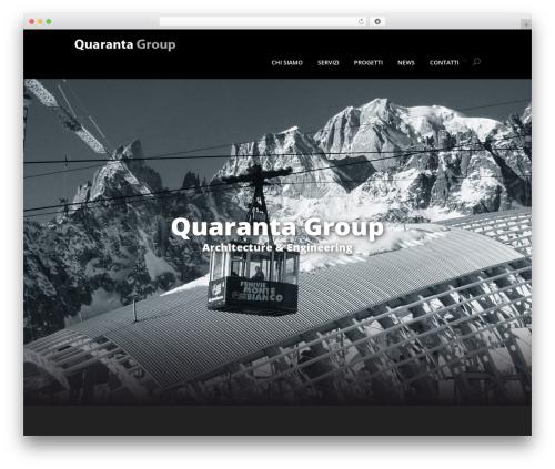 Divi WordPress theme design - quarantagroup.com