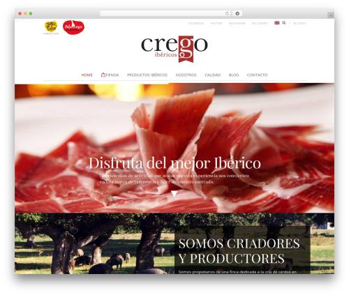 IbericosCrego top WordPress theme - ibericoscrego.com