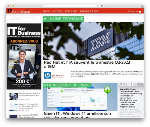 Informatique best WordPress magazine theme - informatiquenews.fr
