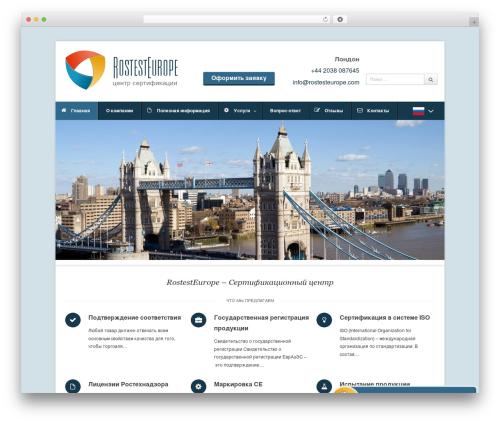 Pytheas WordPress theme design - rostesteurope.com