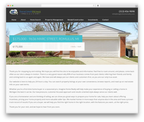 Realty WordPress page template - imaginehomerealty.com