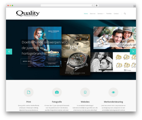 Salient WordPress theme - qualityproductions.be