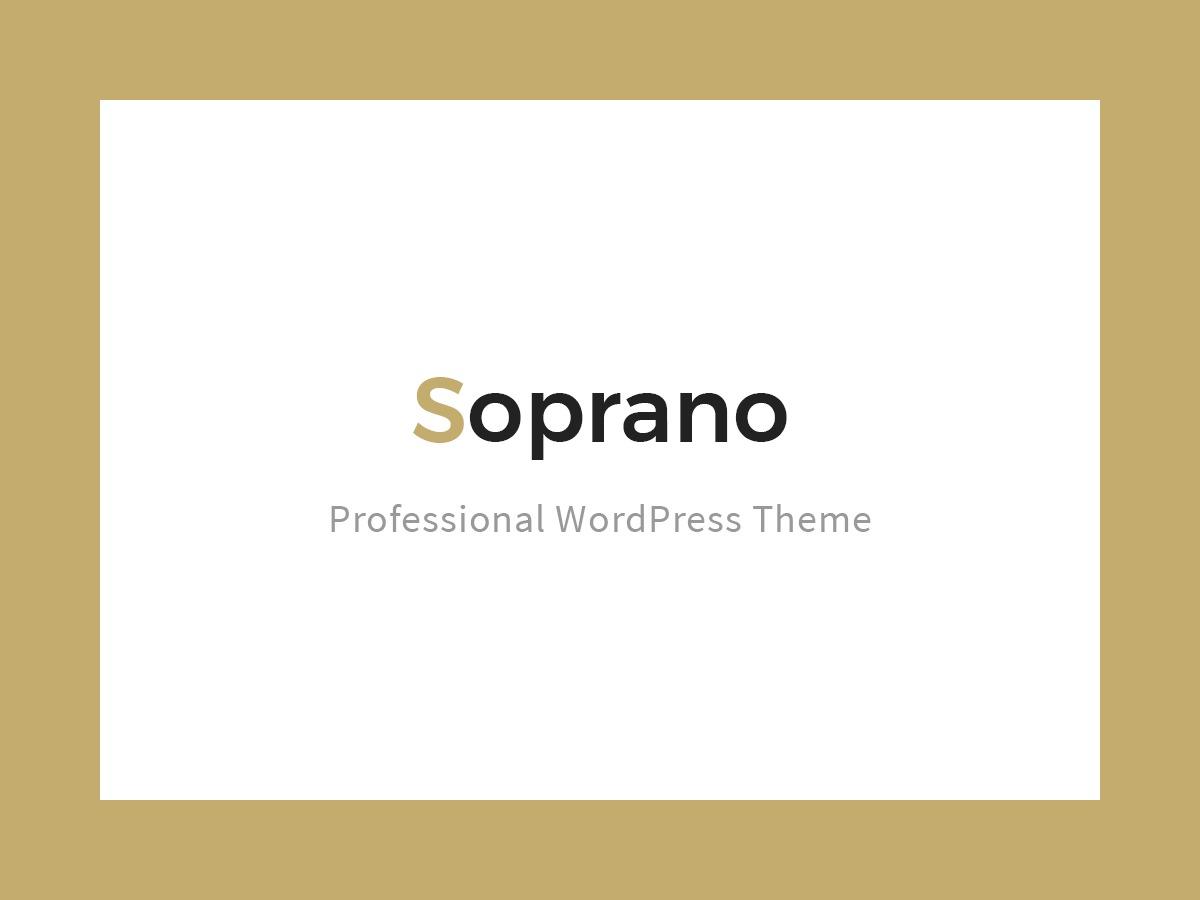 Soprano Theme WordPress portfolio theme