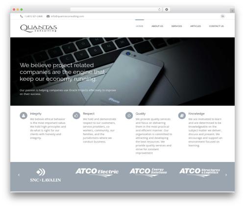 The7 WordPress theme - quantasconsulting.com